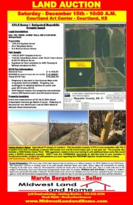 bergstrom auction flyer midwest land home
