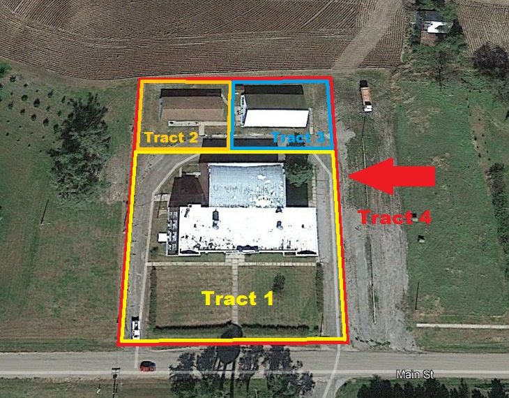 Haddam School Aerial Tracts Outlined