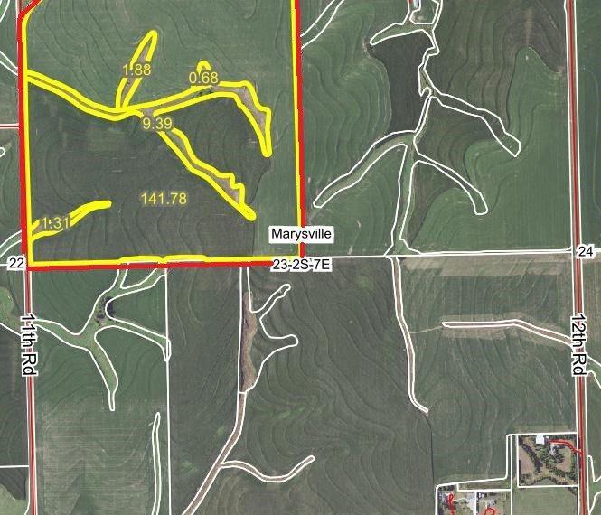 Nichols - S23, T2, R7E - Aerial - Marshall County, KS