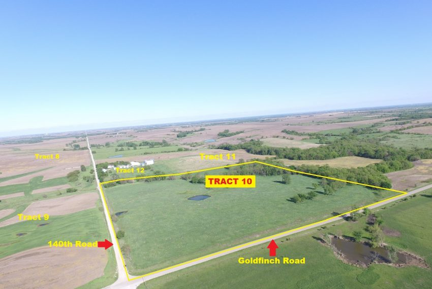 Tract 10 Outlined Aerial