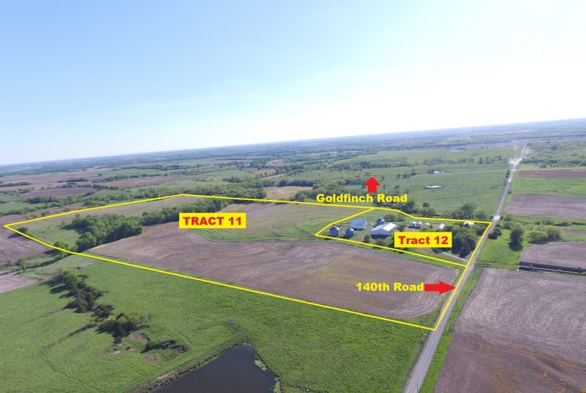 Tract 11 & 12 Outlined Aerial