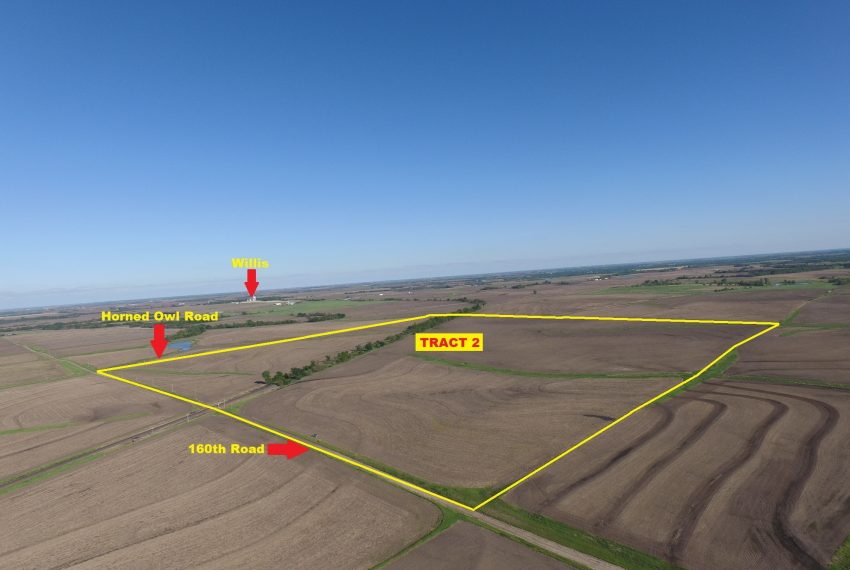 Tract 2 Outlined Aerial