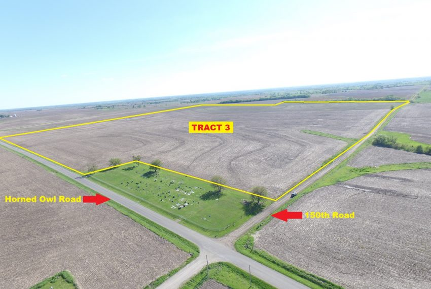 Tract 3 Outlined Aerial