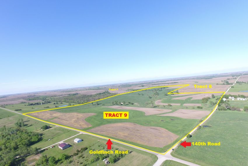 Tract 9 Outlined Aerial